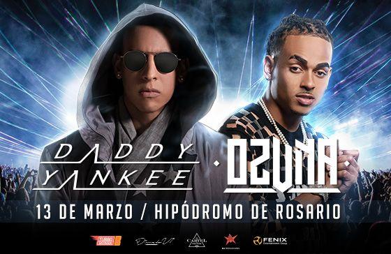 Daddy Yankee y Ozuna en Rosario