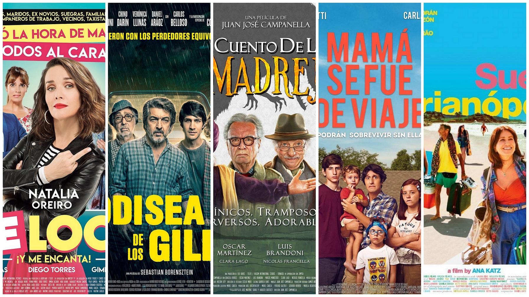 Cine nacional al aire libre por toda la ciudad